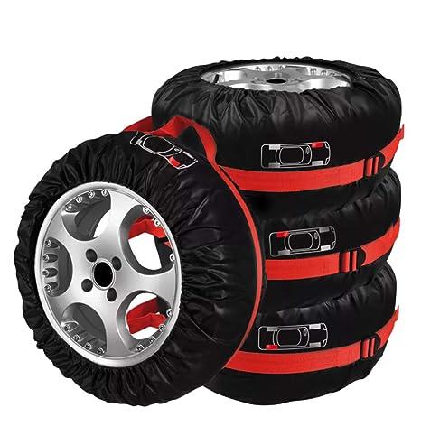 4 pcs Funda de neumáticos con asa Fundas para Rueda de Repuesto