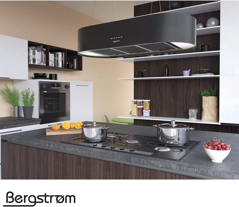 Campana extractora KLAAS de Bergstruum, colgante, ovalada 60 cm Schwarz (Matt): Amazon.es: Grandes electrodomésticos