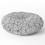 Society6 Abstract Mirror Black On White Floor Pillow Round 30'' x 30''