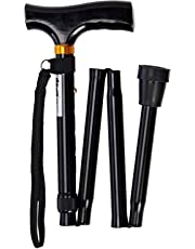 Days Adjustable Folding Walking Stick, Lightweight Height Adjustable Walking Stick, Portable Cane with Ergonomic Handle, Non-Slip Base, 740-835 mm/29-33 Inches, (Eligible for VAT relief in the UK)