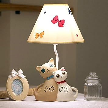 Amazon.com: Lámpara de mesa de noche con diseño de gato y ...