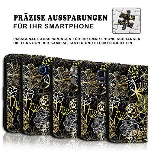 Wallet Book Style Flip Handy Tasche Case Schutz Hülle Schale Motiv Etui für Apple iPhone 5 / 5S - Design Flip MVD243
