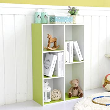 SUBBYE Einfache Kinder Bücherregal Moderne Holz Kombination Bücherregal  Lagerung Schrank Schließfächer Stil Optional (Farbe :