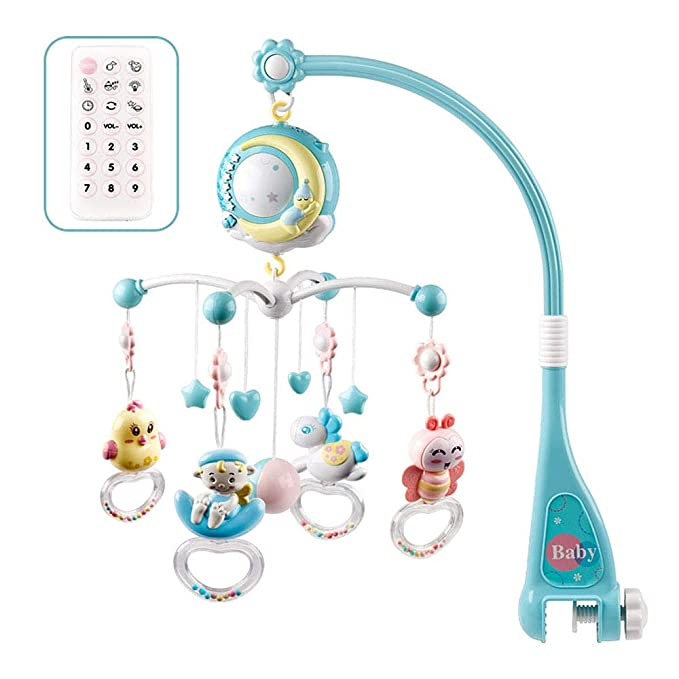 Moonvvin Baby Mobile para cunas con música, cuna móvil con ...
