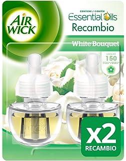 Air Wick Ambientador Eléctrico Recambio Duplo White Bouquet, 2 x 19 ml - Total: