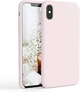 honua. Silicone Case for iPhone X/XS, Soft and Protective iPhone Case with Microfiber Lining, Compatible with Apple iPhone Xs 5.8 inch (Washed Pink)