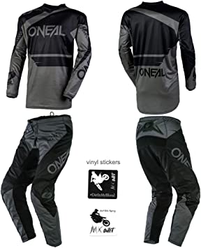 Pants W32 // Jersey X-Large ONeal Element Warhawk Blue//Red Adult motocross MX off-road dirt bike Jersey Pants combo riding gear set