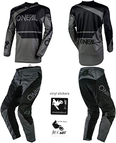 O/'Neal Element Attack motocross MX gear Kids Youth Jersey Pants Gloves combo