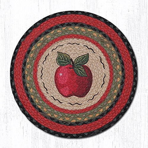 15.5in. x 15.5in. Apple Round Chair Pad - Set of 4 - Apple Chair Pad