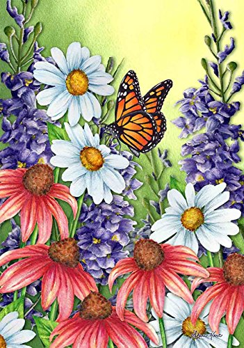 (Briarwood Lane Monarch Spring House Flag Butterflies Floral 28