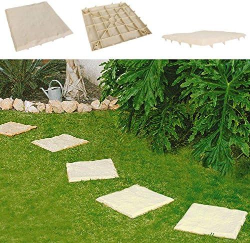 Juego de 4 camino de jardín placas Arena Diseño de pedalada piedras placa de suelo Bancal placas Decoración: Amazon.es: Jardín