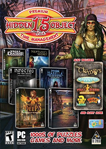 Hidden Object & Time Management - 15 Game Pack Collection Time Dvd Game