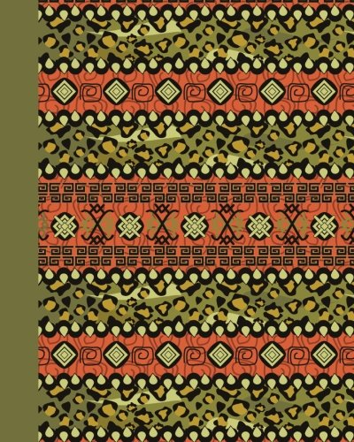 Sketch Journal: Tribal Pattern (Green) 8x10 - Pages are LINED ON THE BOTTOM THIRD with blank space on top (8x10 Patterns & Designs Sketch Journal Series) by CreateSpace Independent Publishing Platform