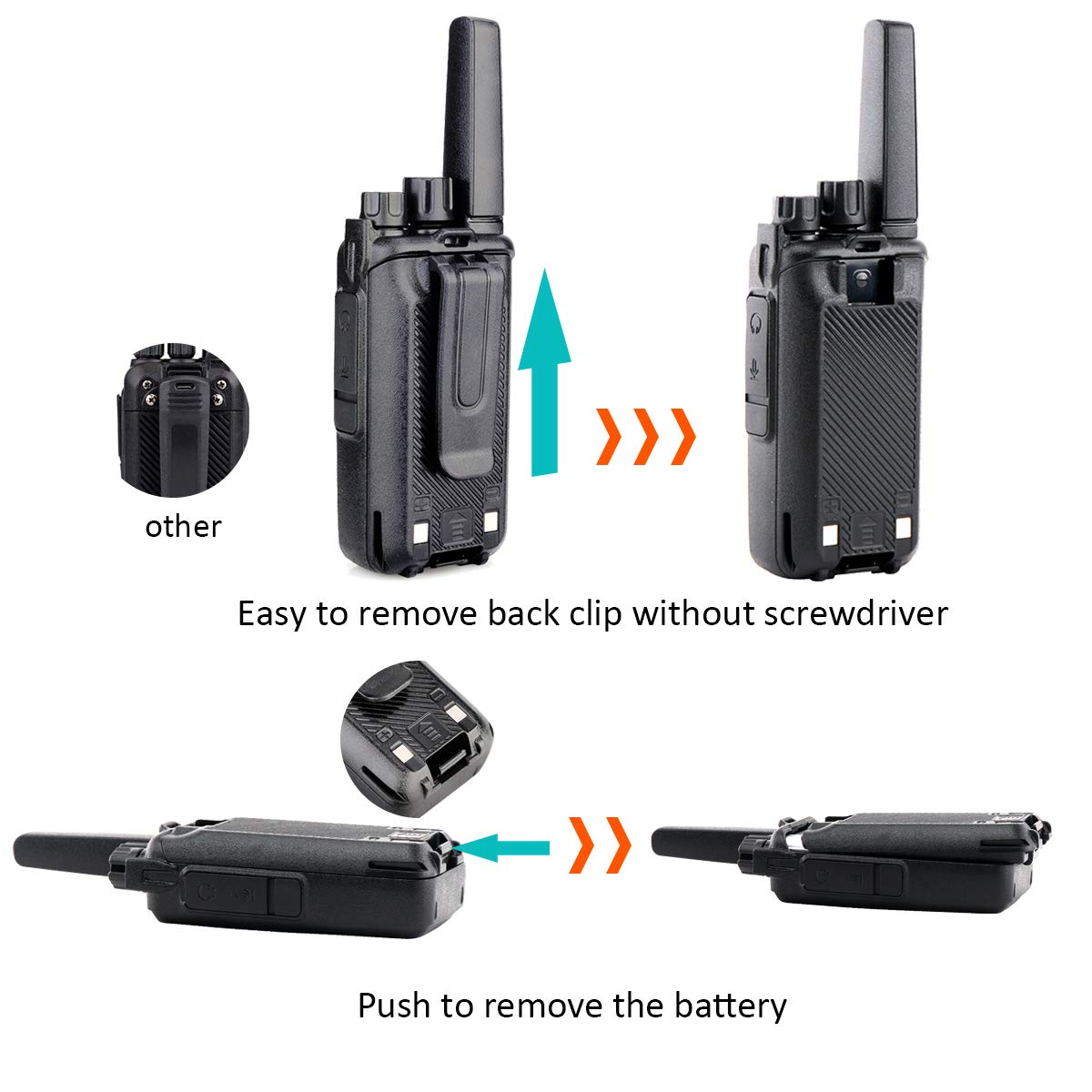 Retevis RT68 2 Way Radios Long Range UHF 16 CH VOX Encryption Rechargeable Business Walkie Talkies for Adults with Earpiece 20 Pack