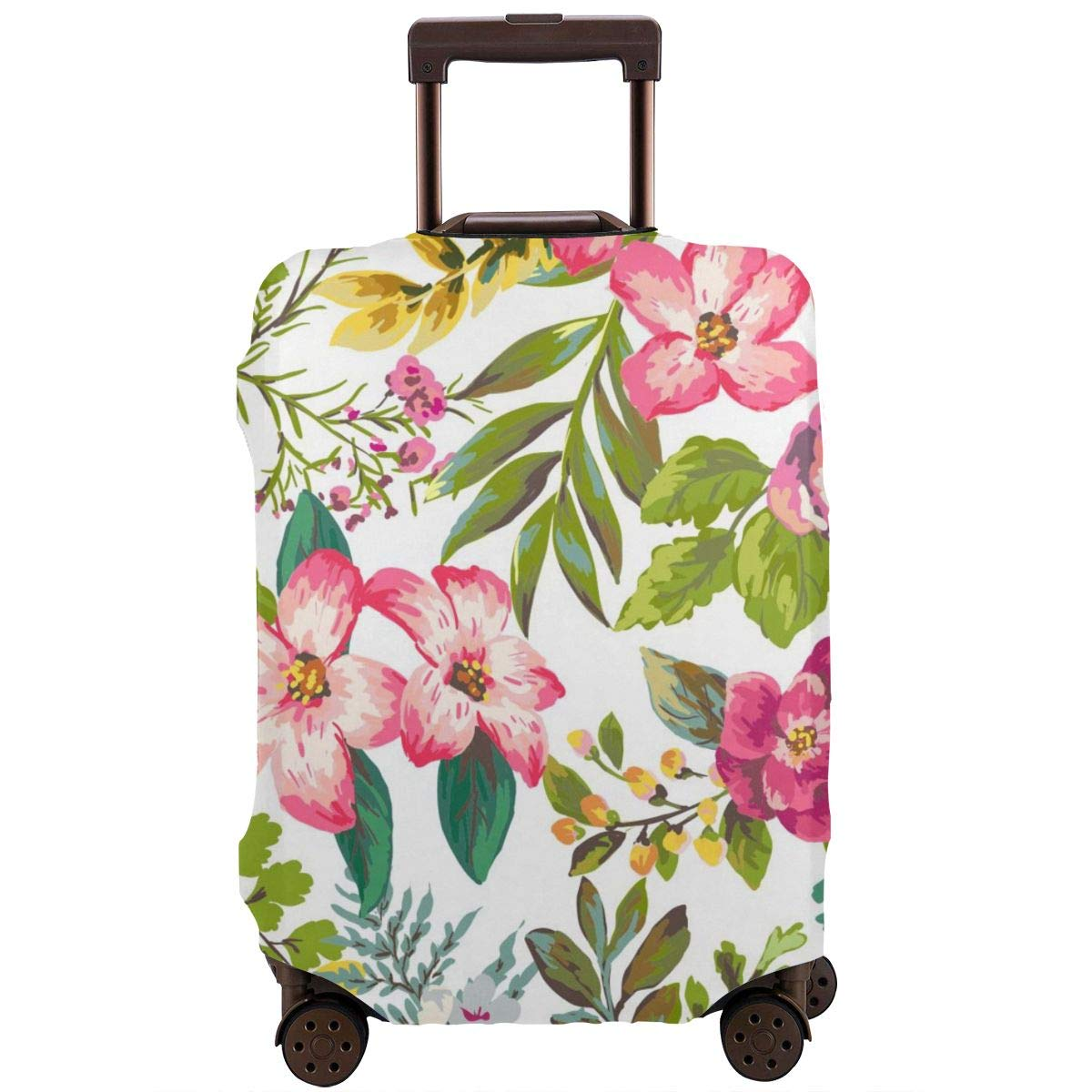 Hibiscus Flowers Design Travel Suitcase Protector Anti-scratch Washable Dust Thicken Elasticity Cover Travel Luggage Cover