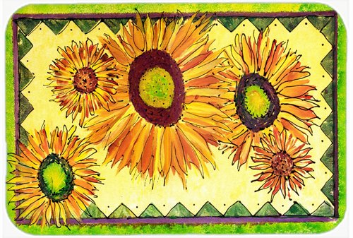 Caroline's Treasures 8060JCMT'Flower-Sunflower' Kitchen or Bath Mat, 24' by 36', Multicolor