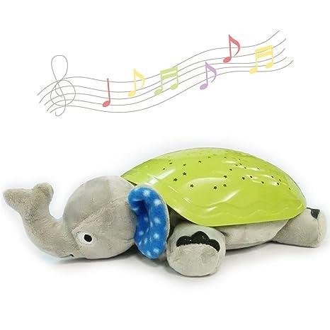 Baby Night Light con música animales Estrella Luz Constellation proyector para niños beruhig Extremo sueño brilla Elephant Soft Toy Dormir Juguetes ...