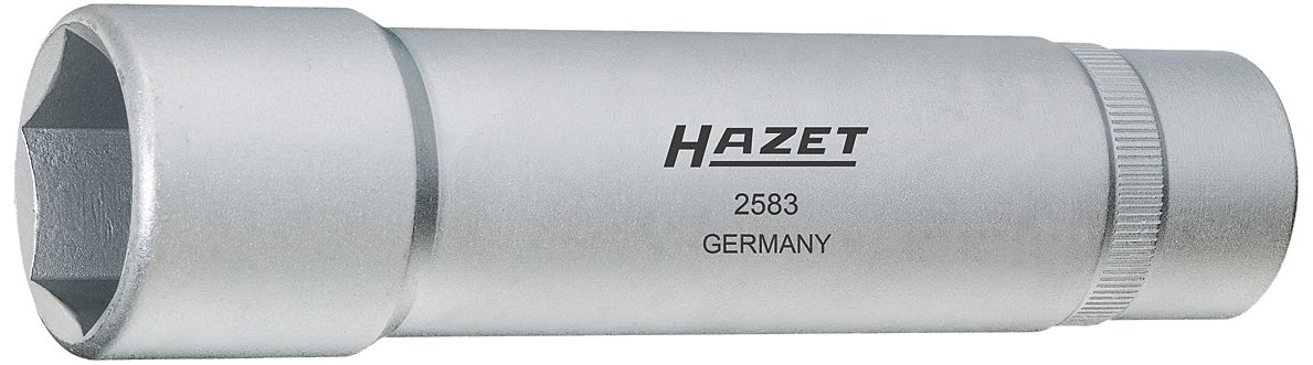 HAZET 2583 140 mm Hexagon Profile Wheel Bearing Tool - Matt Chrome-Plated