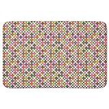 Star Bingo Bathroom Rugs: Memory Foam (24 X 36 inch) Incrediby Soft Memory Foam Spa Quality