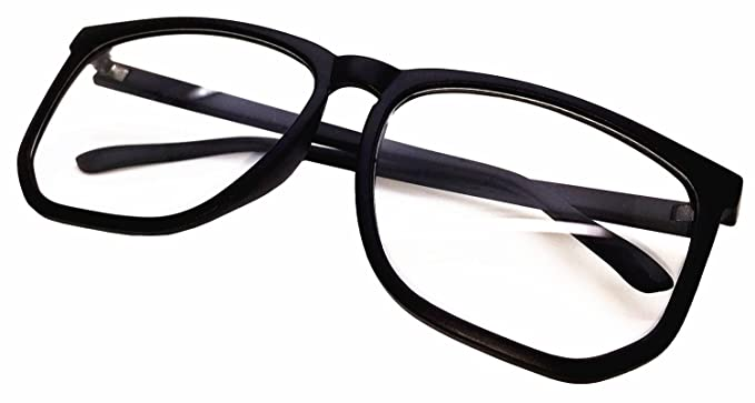 FancyG Retro Vintage Inspired Classic Nerd Square Clear Lens Glasses Frame - Black  sc 1 st  Amazon.com & Amazon.com: FancyG Retro Vintage Inspired Classic Nerd Square Clear ...