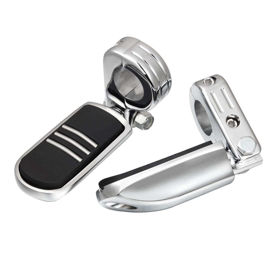 """PBYMT 1.25/"""" 32mm Engine Guard Highway Foot Pegs Footrest Compatible for Harley Softail Dyna Touring Electra Glide Street Glide Road King 1984-2020 Chrome"""
