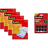 Scotch Thermal Laminating Pouches 6W1GX, 8.9 x 11.4 -Inches, 3 mil Thick, 400-Pack w Bonus Fasteners Dots
