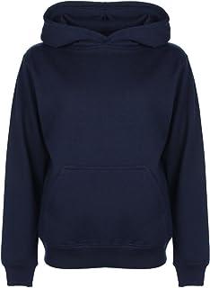 FDM - Sweat-Shirt à Capuche - Fille Bleu Bleu 5 Ans