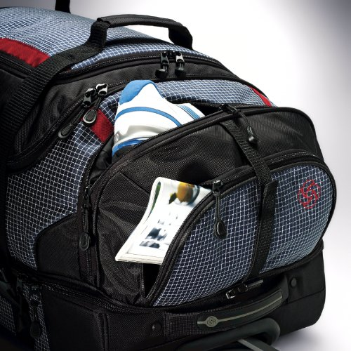 612fuFVfOlL - Samsonite Luggage Ripstop Wheeled Duffel 30, Blue