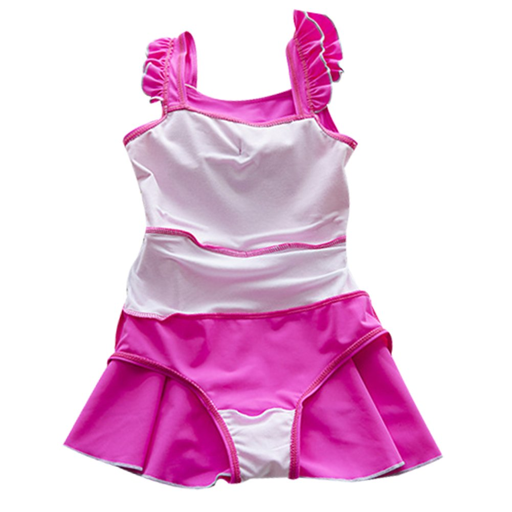 LOSORN ZPY Baby Toddler Girl Swimsuit Kid Girl One Piece Swimwear Bow Swim Dress