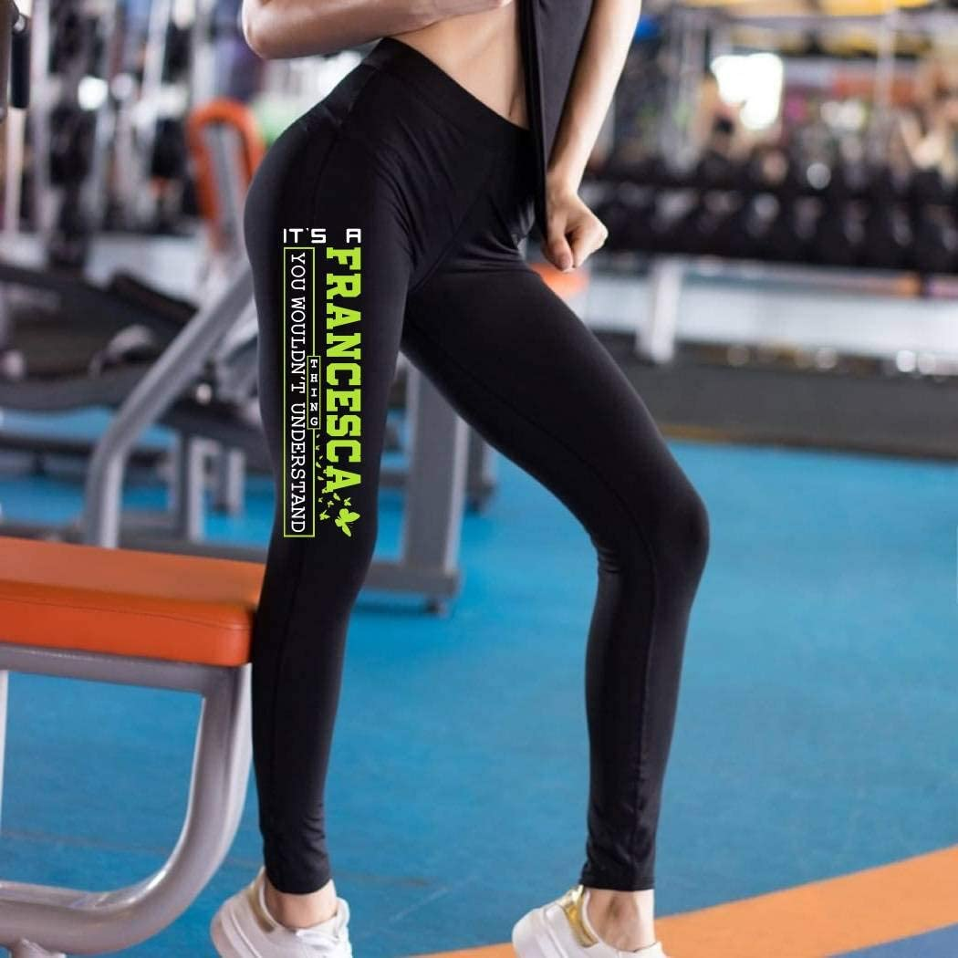 HusbandAndWife St Patricks Day Leggings for Women Its a Francesca Thing You Woudnt Understand