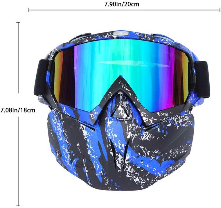 Kikier Masque de Ski int/égral avec Pare-Brise int/égral avec /élastique r/églable pour Skis et Motos