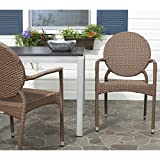 Safavieh Home Collection Valdez Brown Indoor-Outdoor Stacking Arm Chair Review