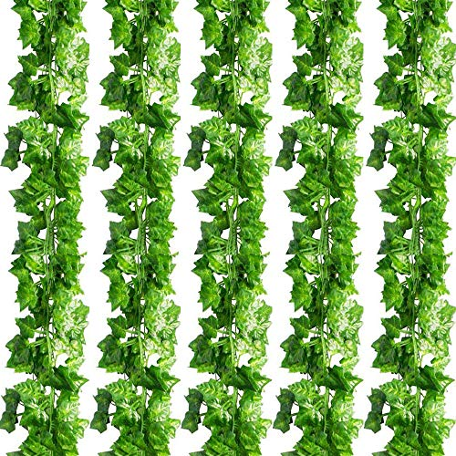 Woooow 242 Feet 36 Strands Artificial Ivy Garland(6.7feet/Strand) Fake Ivy Artificial Ivy Leaves Greenery Garlands for Home Kitchen Wedding Wall Outdoor Garden Decor from Woooow
