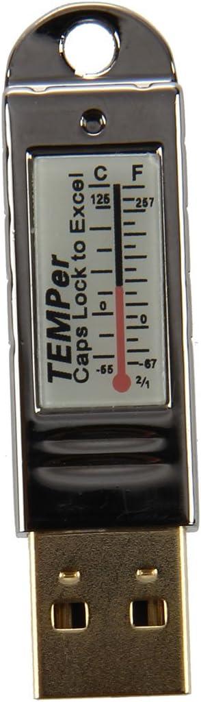 SODIAL Gold TEMPer PC USB portatil registrador de datos de sensor de temperatura