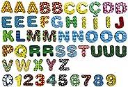 Letras e números imantados para geladeira e lousas 3cm