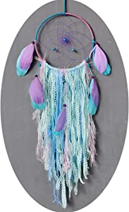 Dream Catchers Crafts for Teen Girls Bedroom Decor Bulk Handmade Lace Farmhouse Dreamcatcher Pretty Holder for Boy Childrens Room Decorations, Baby Shower, Curtains Ornaments, Door, Multi Colored Blue