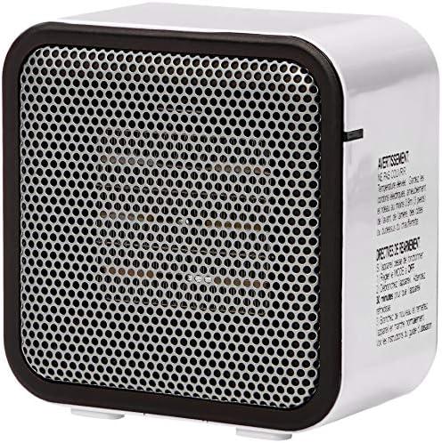 AmazonBasics 500-Watt Ceramic Small Space Personal Mini Heater – White