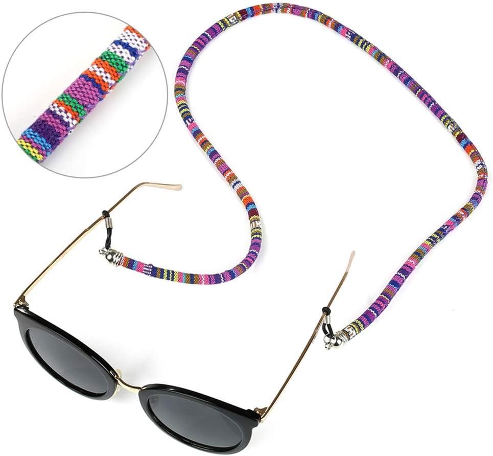 Crazy-m 4 STK Buntes Brillenband f/ür Sonnenbrille und Lesebrille Brillenschnur Brillenkordel Brillenb/ändel Brillenkette Brillen Halter Kette Schnur Lanyard