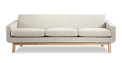 Kardiel PLATFORM3-URBANHEMP Platform Mid-Century Modern Classic Sofa, 27.5\