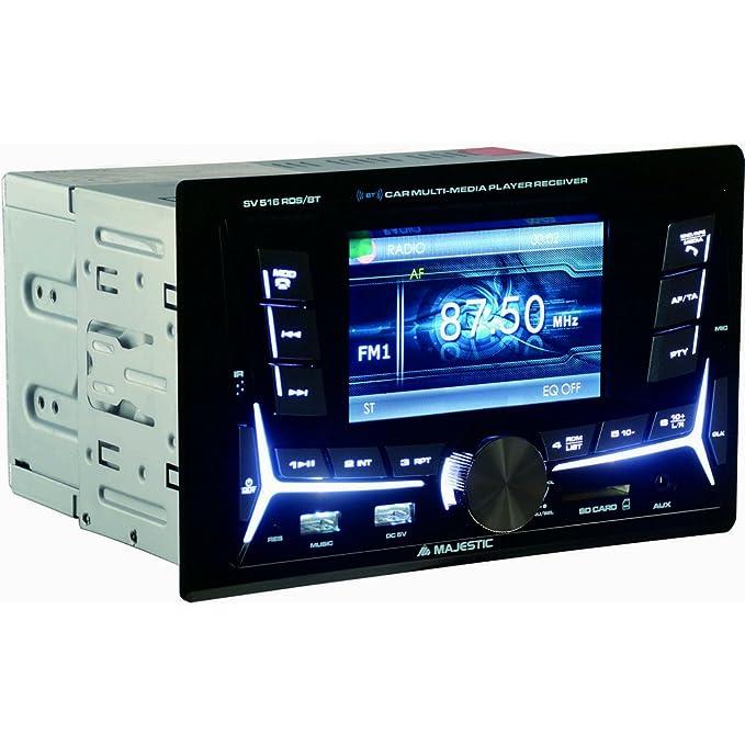 """7 opinioni per Majestic SV 516 RDS BT- Autoradio FM Bluetooth DOPPIO DIN con monitor 4"""", doppio"""