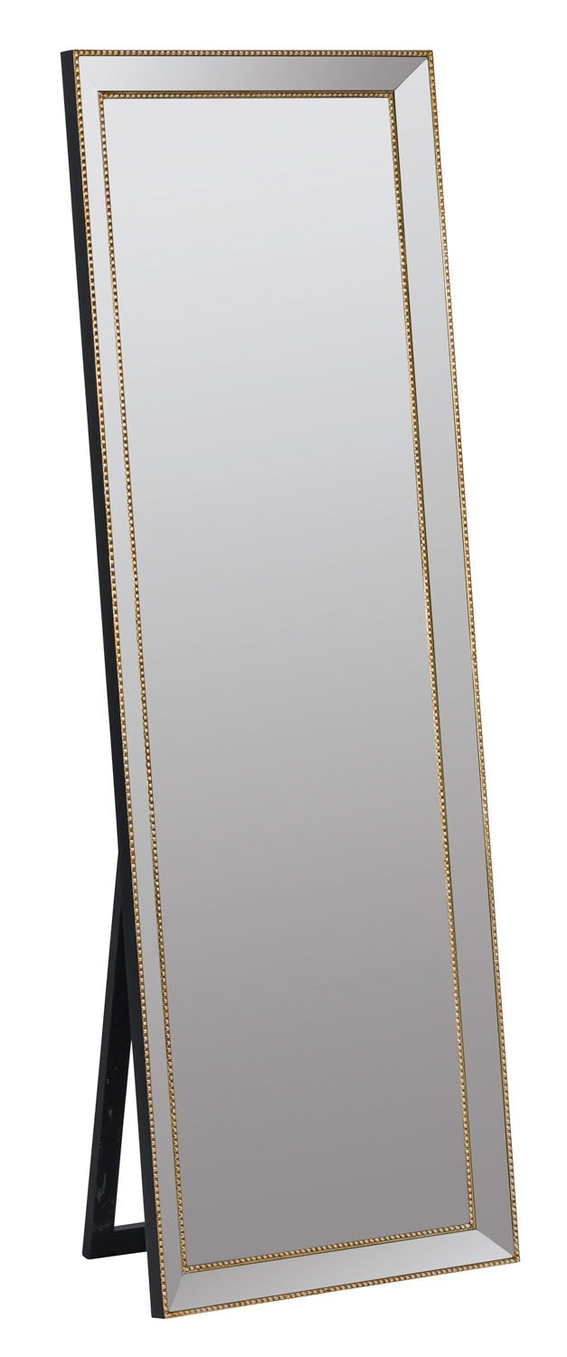"Cooperclassics Home Decorative Kyson Standing Mirror - Gold Finish - Gold Finish. Dimensions: 17""D x 24""W x 68""H, Galss Size: 19""W x 63""H Material: Metal. - mirrors-bedroom-decor, bedroom-decor, bedroom - 612fxfDqpnL -"