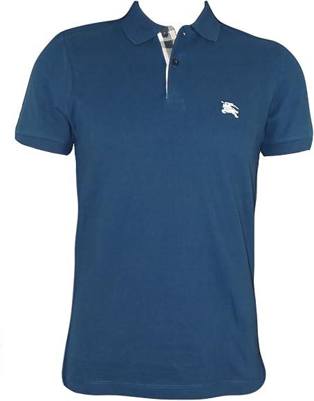 Burberry Brit-Polo, color azul, Indigo-mangas cortas, 100% algodón ...