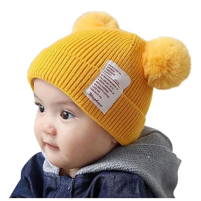 QinMMROPA Sombrero de Punto para bebés niños niñas Gorra Linda ...