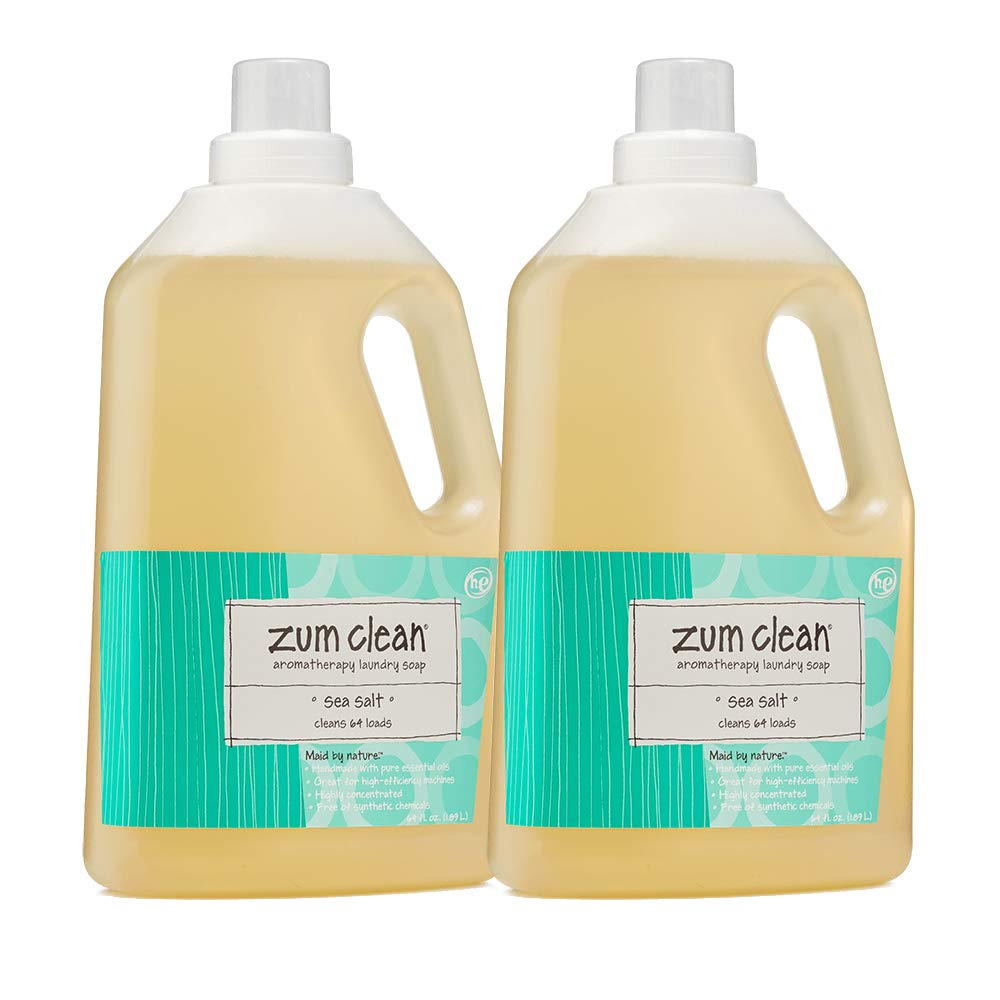 Zum Clean Sea Salt Laundry Soap 64 Oz 2 Pack by Indigo Wild