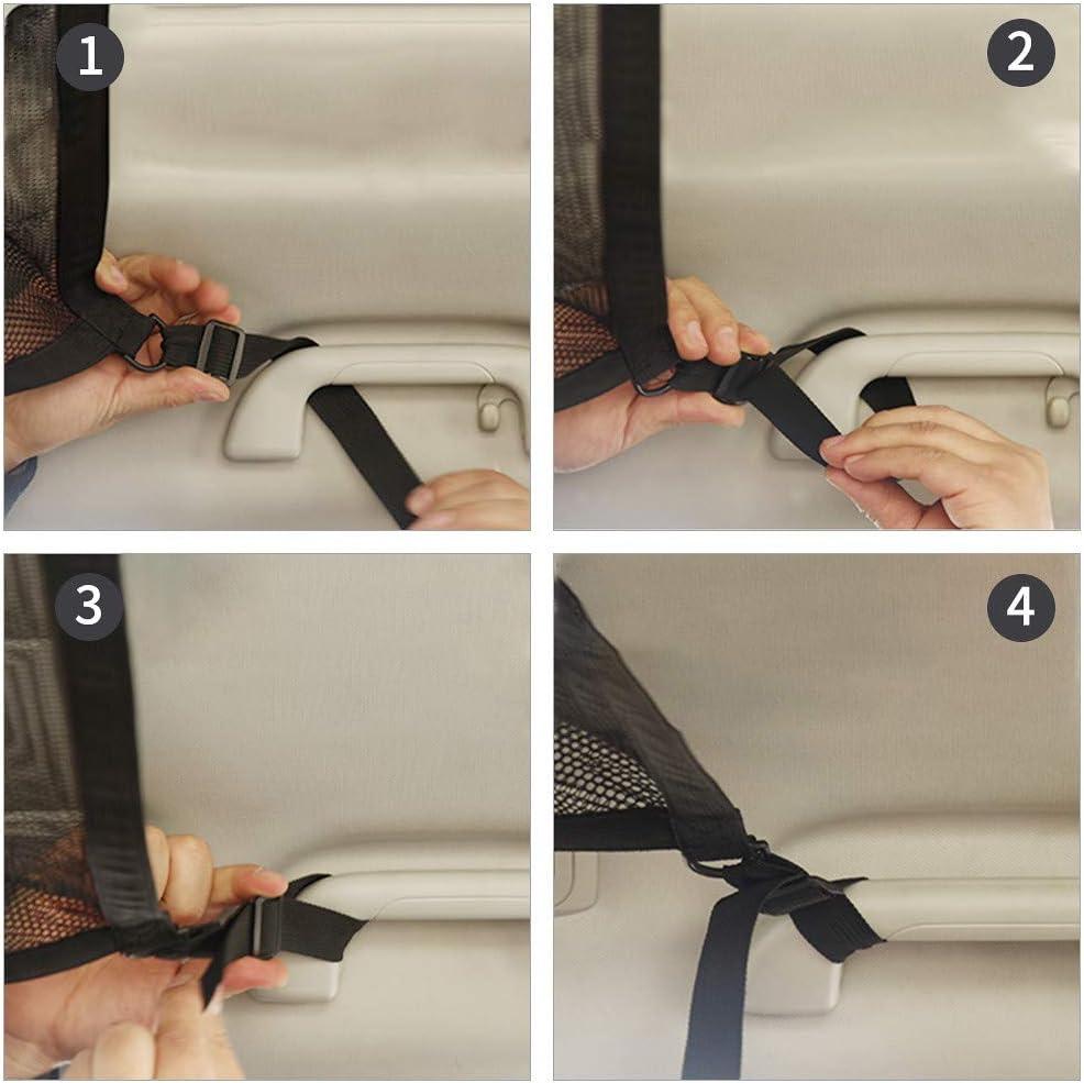 in rete per piccoli oggetti regolabile Borsa portaoggetti per tettuccio auto traspirante LEKO con chiusura lampo