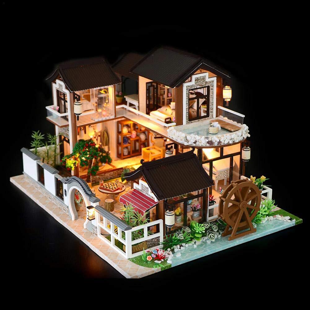 Casa Delle Bambole,DIY Dollhouse Kit, Case A LED DIY Puzzle Assemblee Gioco- Villa K-036 Firenze, Giocattoli Educativi Per Bambini, Ragazze, Fidanzate