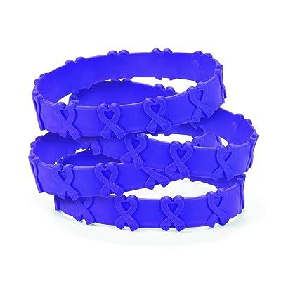 Purple Awareness Pop-Out Bracelets (24 pieces): Health & Personal Care