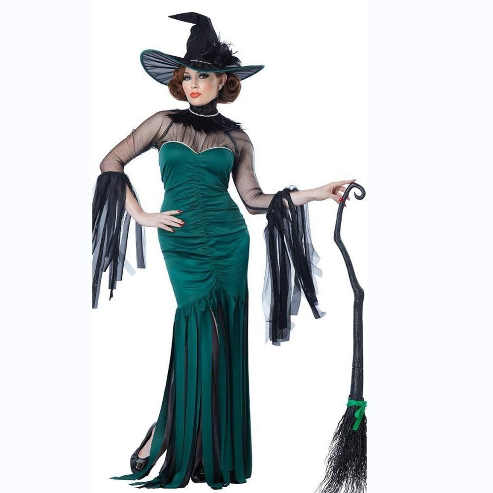 Yunfeng Hexenkostüm Damen Halloween Kostüm Erwachsene Rolle Spielen Hexe Kostüm Hexe Cosplay Leistung Kostüm