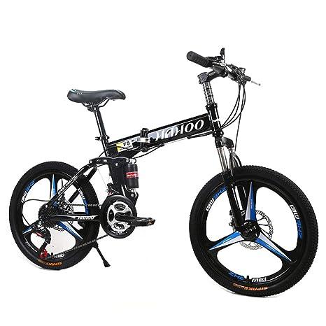 HAOHAOWU Bicicleta Plegable De Acero Al Carbono, Bicicleta De ...
