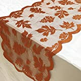 Hot Sale!DEESEE(TM)Maple Leaf Lace Table Runner Perfect for Fall Dinner Parties Restaurant Decor